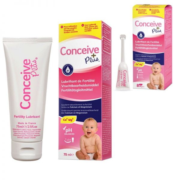 Lubrifiant de fertilité Conceive Plus meilleur bundle lube + 8 applicateurs